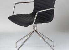 Cadeira Delta Giratória Gomo – Com Braço - 4 Pés Inox