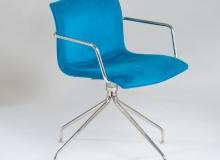 Cadeira Delta Giratória Lisa – Com Braço - 4 Pés - Inox