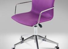 Cadeira Delta Giratória Lisa – Com Braço - 5 Patas - Rodízio - Gás