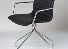 Cadeira Delta Giratória Gomo –Com Braço 4 Pés Inox