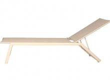 Espreguiçadeira Taupe L 64 x P 194 x H 35 - Cores - Taupe e Off White. Fornecidos apenas nos acabamentos indicados.