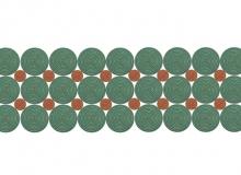 Tapete Pixel - Tramado Liso ou em diversas cores de Cordas Náuticas.